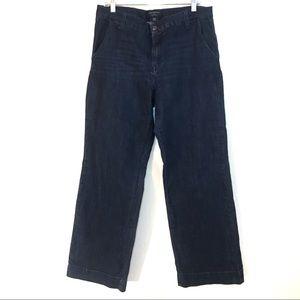 Banana Republic Size 32/14 Trouser Wide Leg Jeans